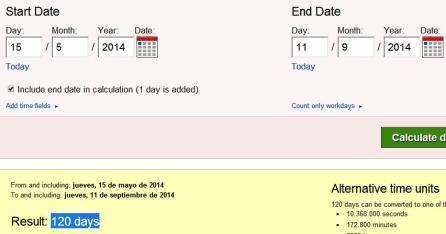 120 dias desde inaguración museo 11$ hasta 11$ del 2014