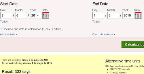 333 días desde anuncio abdicacion hasta 1 de mayo 2015