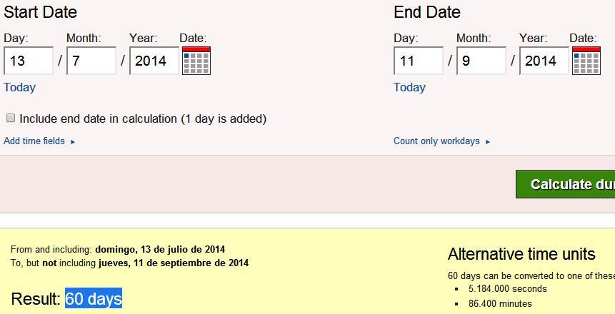 60 dias desde final mundial hasta 11$ del 2014
