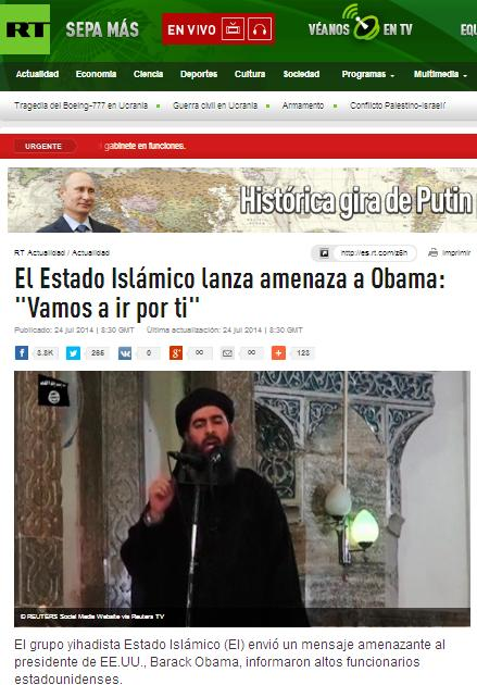 estado islamico amenza a obama