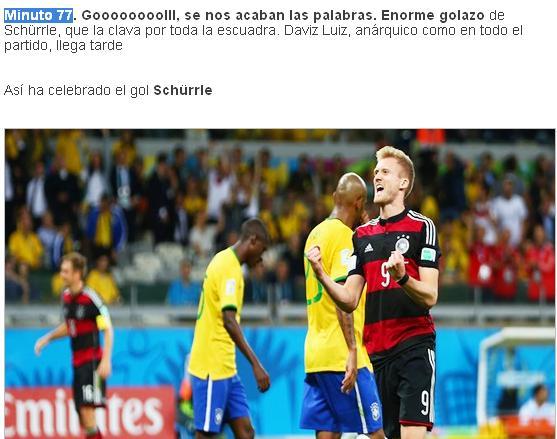 gol 7 en el minuto 77 alemania brasil