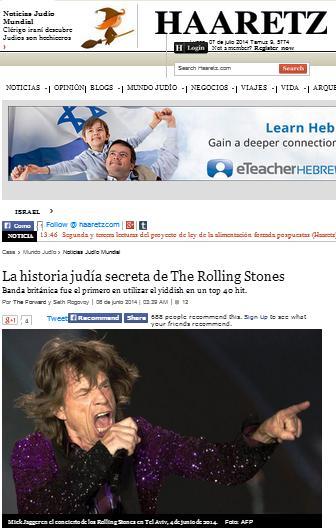 haaretz historia judia secreta de rolling stone