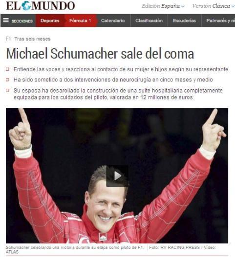 schumacher sale del coma