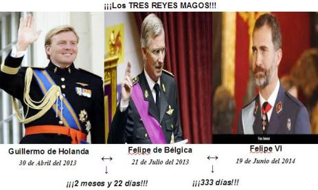 TRES REYES MAGOS GUILLERMO-FELIPE-FELIPE