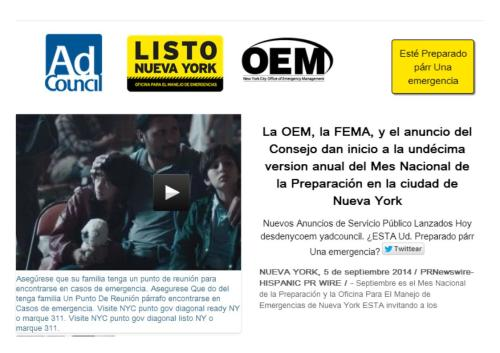 11 edición mes nacional de preparación en NY septiembre