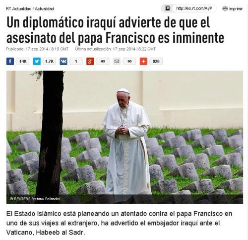 asesinato isis papa