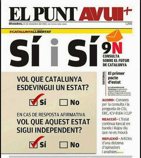CAPTURA EL PUNT AVUI referendum catalunya SI SI independencia desembre 2013
