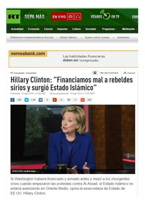 HILLARRY CLINTON FINANCIAMOS MAL AL ESTADO ISLAMICO