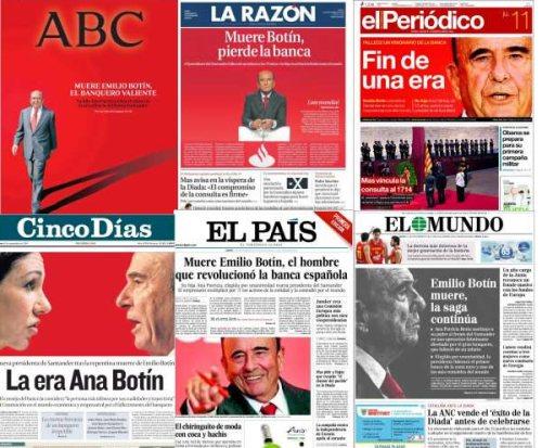 La-muerte-de-Emilio-Botín-en-las-portadas-de-los-periódicos