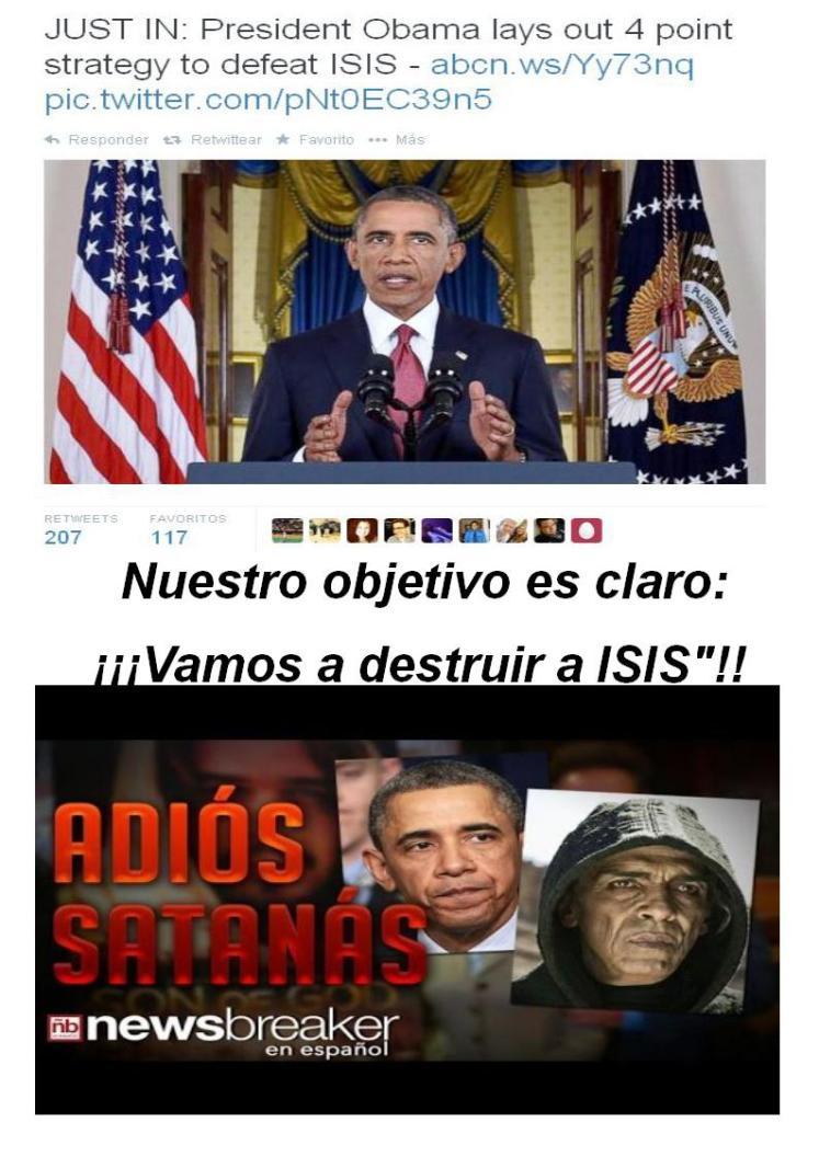 obama 10 de septuiembre 2014 vamos a destruir a ISIS