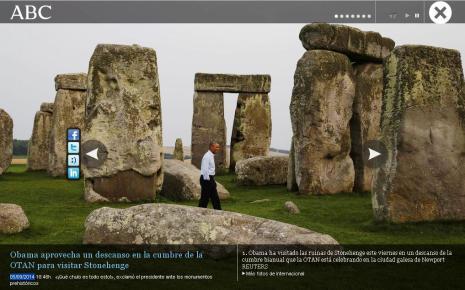 obama 5 septiembre 2014 en stonehenge