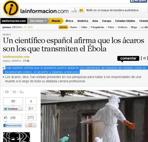 acaros ebola