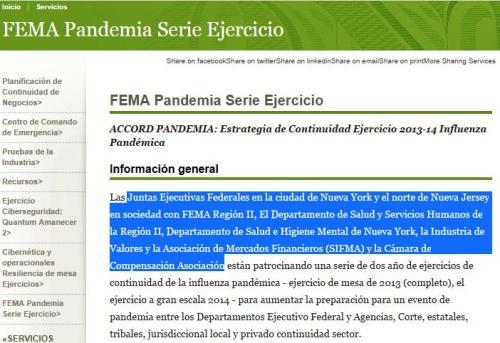 fema pandemia noviembre 2014 ny