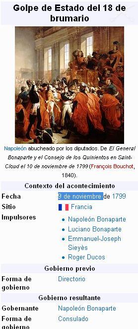 golpe estado 9 noviembre napoleon