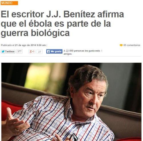 jj benitez ebola