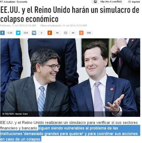 SIMULACRO COLAPASO EEUU REINO UNIDO