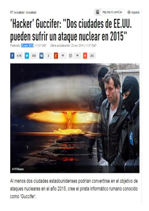 dos ciudades de eeuu puden sufrir ataque nuclear en 2015