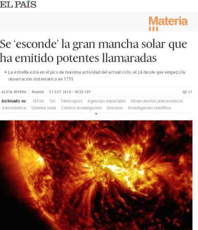 esconde mancha solar