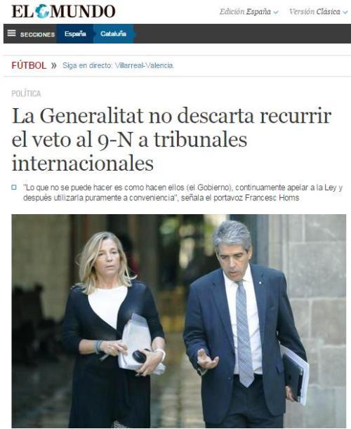 generalitat recurrir tribunales internacionales