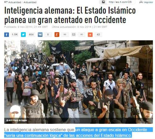 inteligencia alemana ISIS