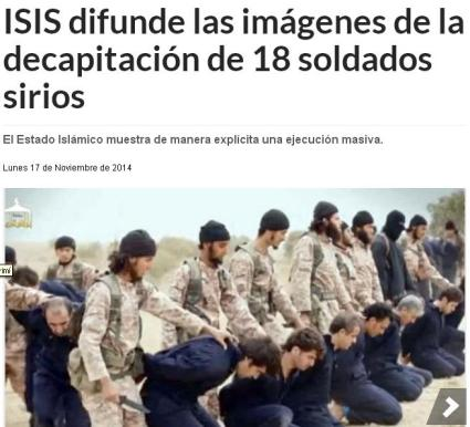 isis 18 soldados