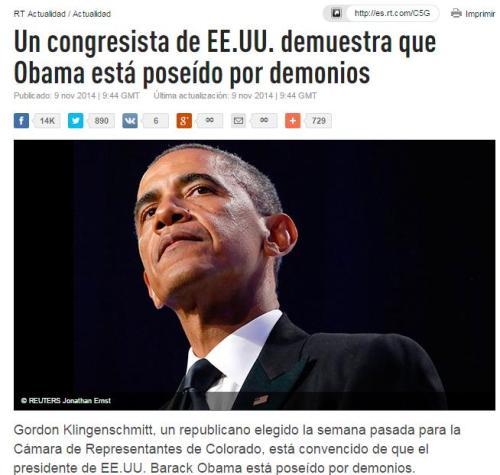 obama poseido demonios