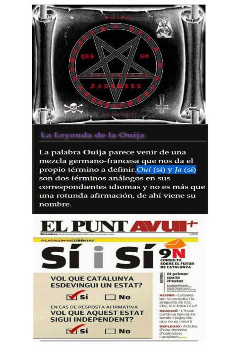 ouija satanica SIS SI referendum catalan