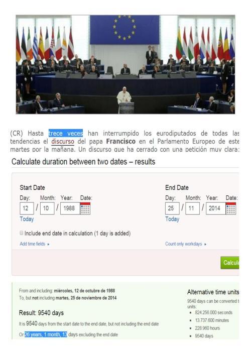 papa interrumpciones parlamento europeo 26 años y 1 mes y 13 días después