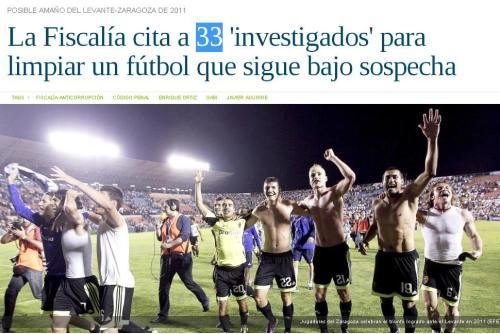 33 investigados amaños futbol