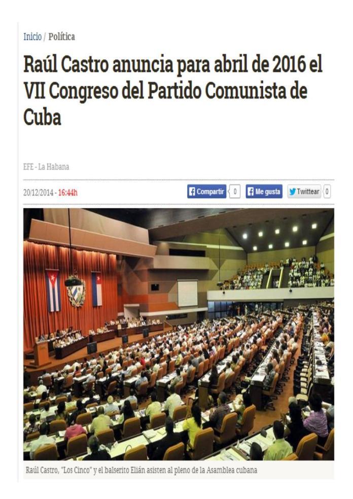 abril 2016 congreso cuba