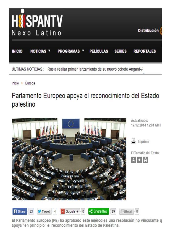 estado palestino europa