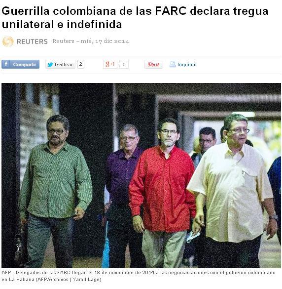 FARC TREGUA UNILATERAL E INDEFINIDA