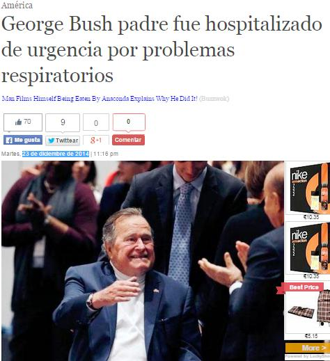 george bush hospitalizado 33066