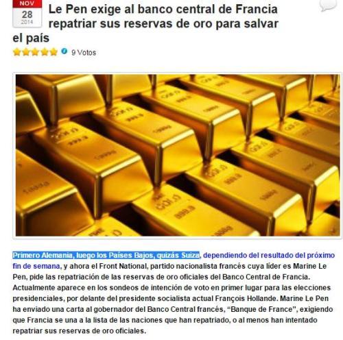 le pen oro francia