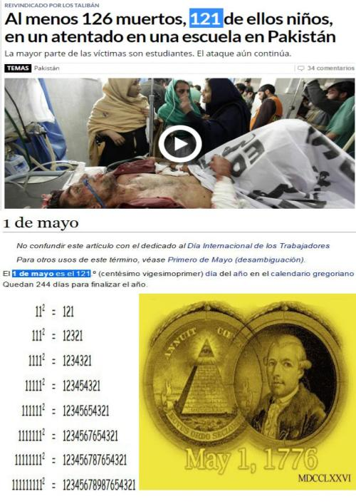 niños muertos taliban 121 dia de los illuminati