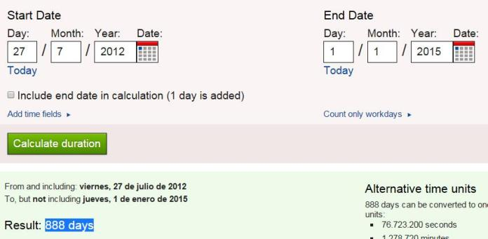 1 enero 2015 888 dias desde ritual londres 2012