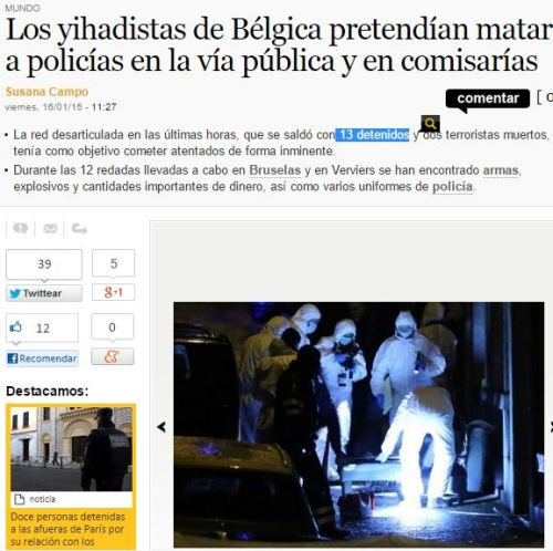 13 detenidos belgica