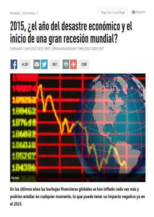 2015 inicio gran recesion mundial