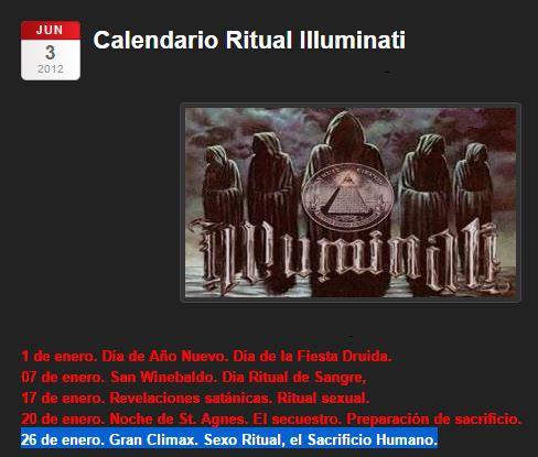 26 enero sacrificio illuminati