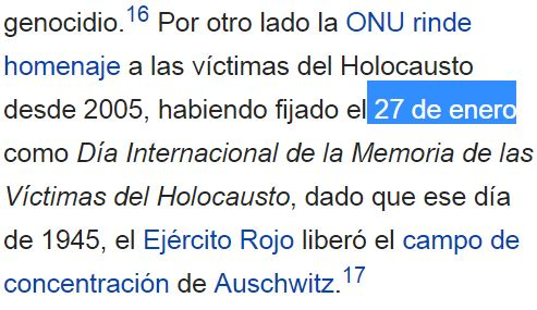 27 enero victimas holocausto