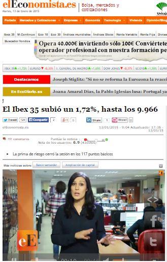 9966 bolsa española cierre martes 13 ó 13-13