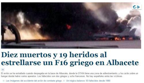 accidente albacete f16 griego