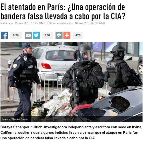 atentado paris cia