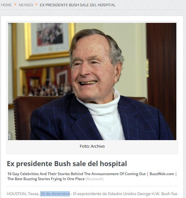 bush sale de urgencias 7 dias despues de martes a martes