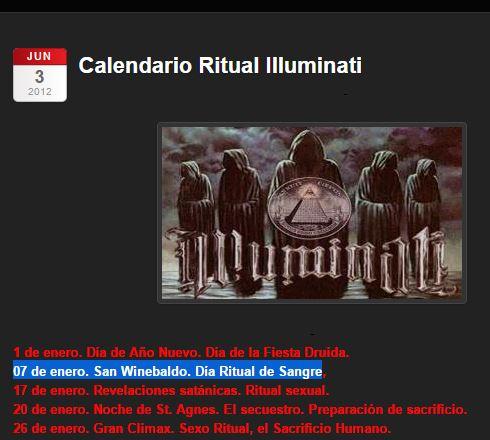 clendario ritual illuminaati 7 de enero