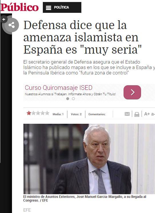 defensa amenaza islamista españa