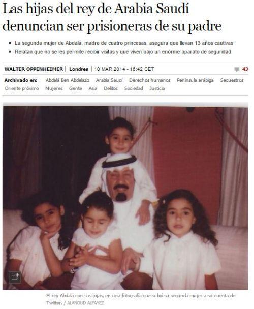 hijas arabia saudi encerradas 13 años