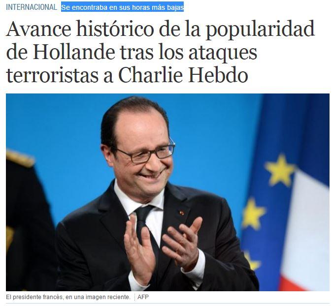 HOLLANDE POPULARIDAD