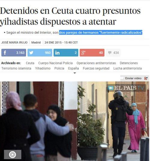 OPERACION YIJADISTA CEUTA 2 PAREJAS HERMANOS