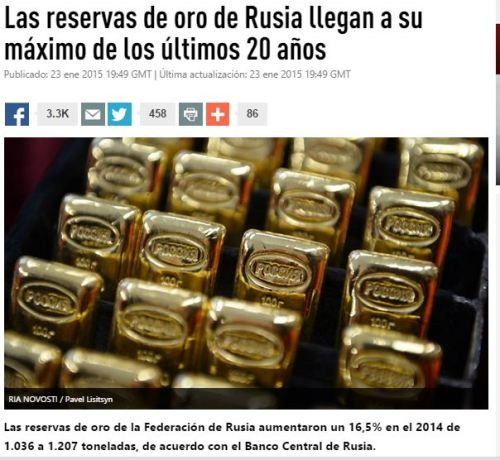 rusia oro reservas